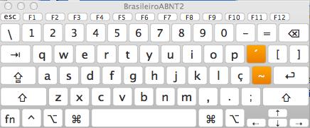 teclado abnt para mac